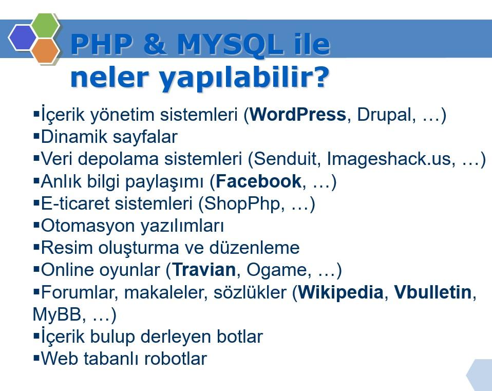 php ile neler yapılabilir