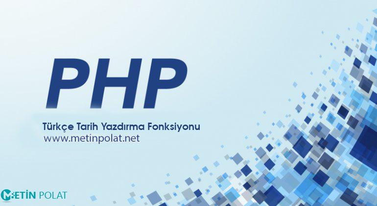 php türkçe tarih fonksiyonu