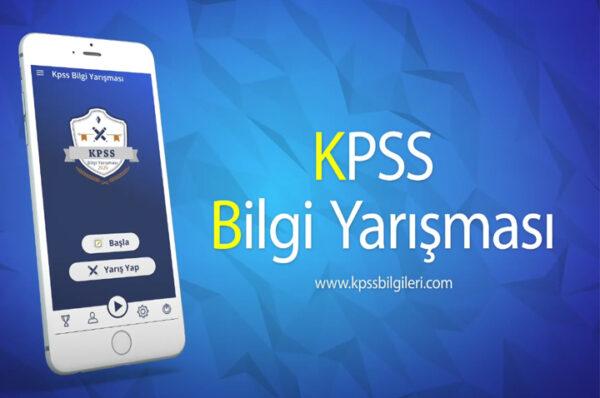 kpss bilgi yarışması